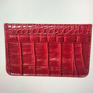 B-LOW the belt croc card case